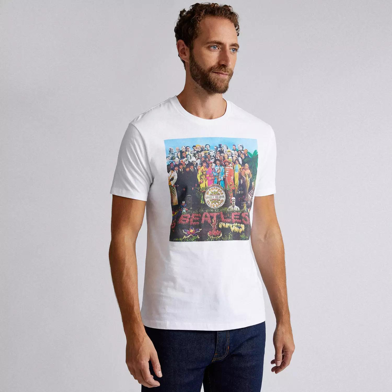 Burton - White The Beatles License T-Shirt £8 + delivery @ Debenhams