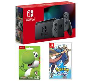 Nintendo Switch + Pokemon Sword, £25 Gift Card and 6 months spotify £304 @ Currys