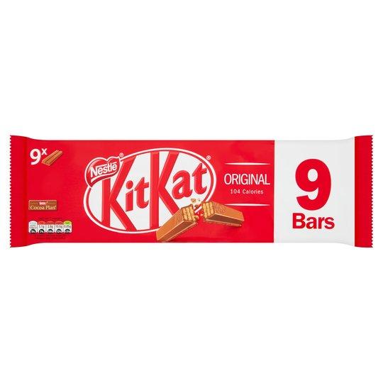 Kit Kat 2 Finger 9 Pack Was £1.99 Now £1 @ Sainsbury's