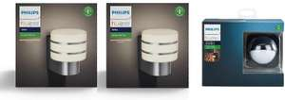 Philips Hue Tuar White LED Smart Outdoor 2x Wall Lights + Outdoor Motion Sensor Bundle £109.99 @ amazon
