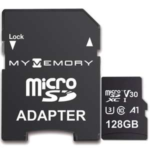 MyMemory 128GB V30 PRO Micro SD (SDXC) A1 UHS-1 U3 + Adapter - 100MB/s £12.99