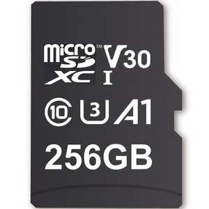 MyMemory 256GB V30 PRO Micro SD (SDXC) A1 UHS-1 U3 + Adapter - 100MB/s Plus Free Kingston 16GB USB at MyMemory £24.99
