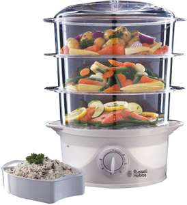 Russell Hobbs 21140 3-Tier Food Steamer, 800 W, 9 Litre, White £20 Amazon