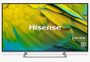 "Hisense H50B7500UK (2019) LED HDR 4K Ultra HD Smart TV, 50"" with Freeview Play, Black/Silver - £349 delivered @ John Lewis & Partners"