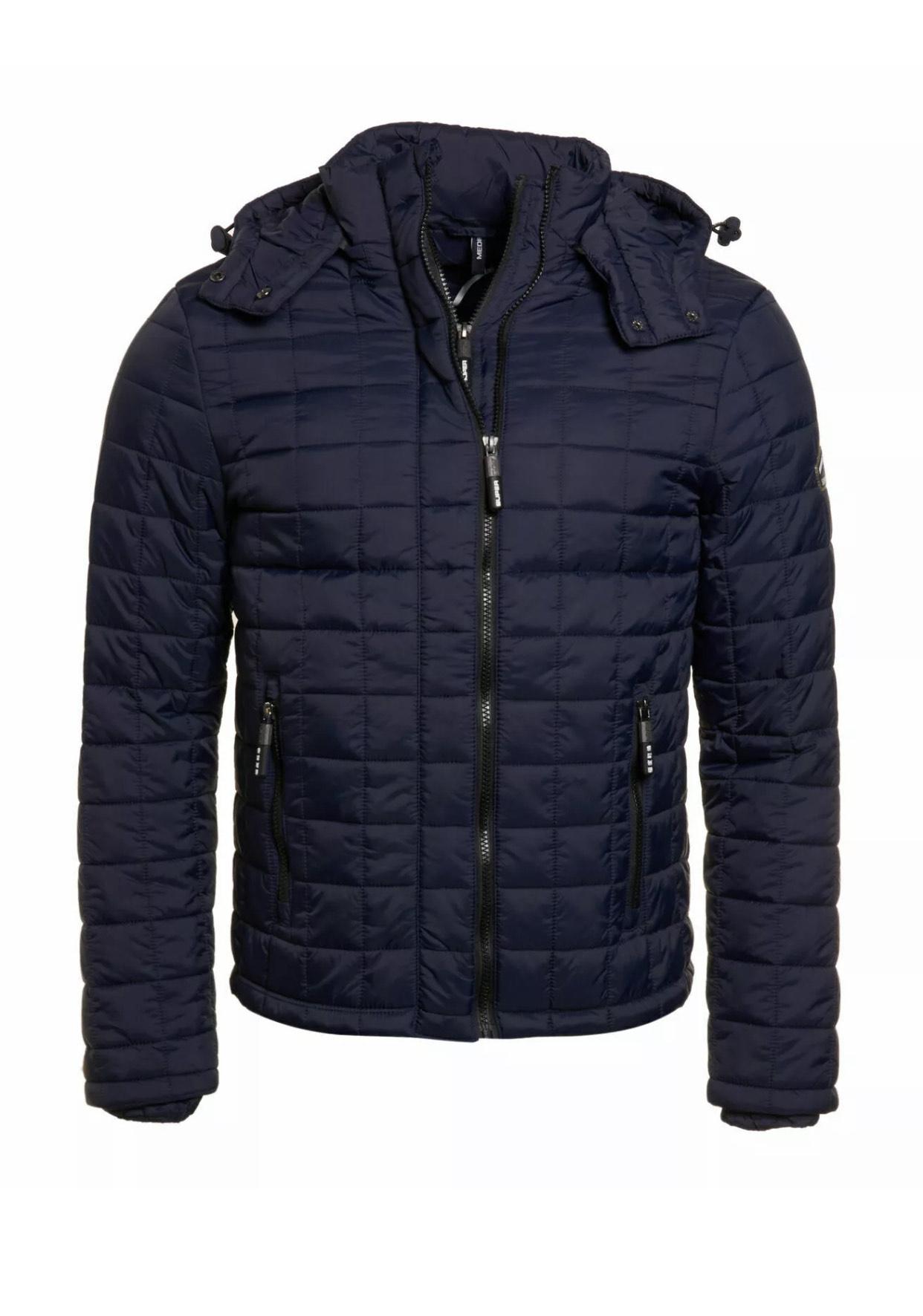 New Mens Superdry Box Quilt Fuji Hooded Jacket £34.19 Superdry on eBay