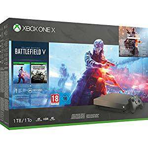 Xbox One X Special Gold Rush 1Tb + Battlefield V Deluxe Edition £240.76 Like New from Amazon Warehouse Italy (or £231.75 fee free)