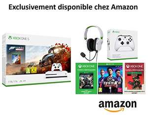 Xbox One S 1TB + 2 Controllers + Headset + 1M Gamepass + Forza 4 + FIFA 19 + GOW 4 + Apex Legends Founders Pack 2 £193.81 via Amazon France