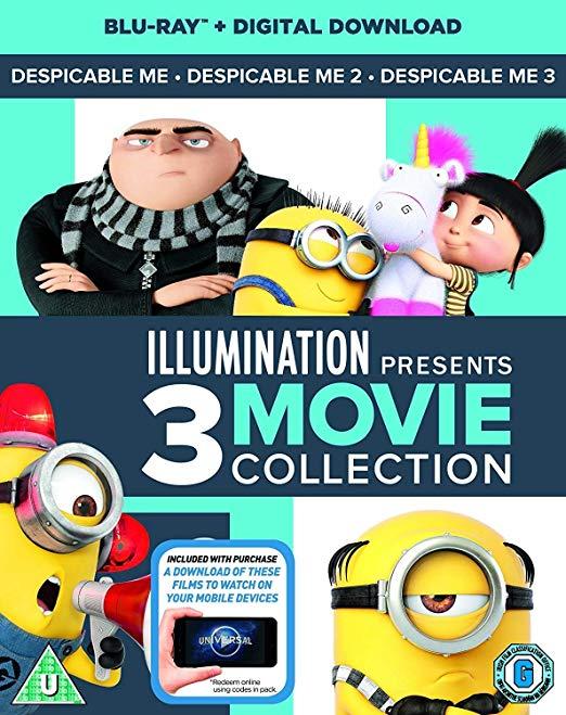 Despicable Me 1-3 Boxset Box Set, Box Set +digital copies £7.09 (Prime) / £10.08 (non Prime) at Amazon