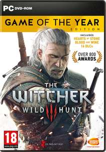 The Witcher 3 Game of the Year Edition (PC DVD) £14.99 (Prime) / £17.98 (non Prime) at Amazon