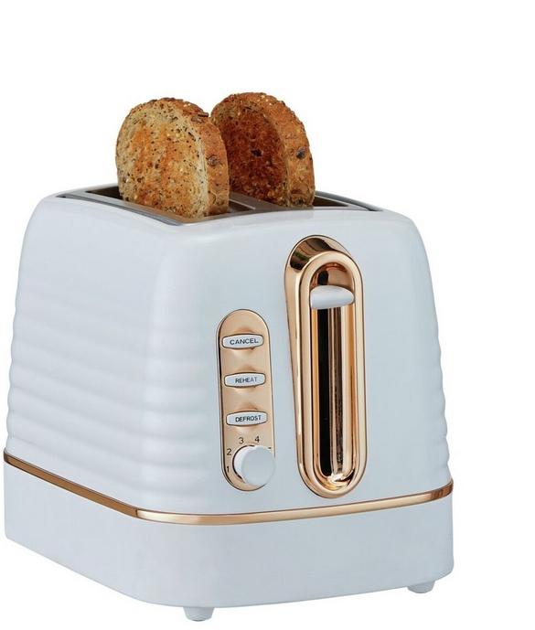 Cookworks Horizon Stripe 2 Slice Wide Slot 6 Settings Toaster 1050W - Multi - £9.99 + Free Click & Collect @ Argos