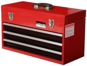 Halfords Professional Tool Chest Red 3 Drawer Metal £25 @ Halfords ebay store