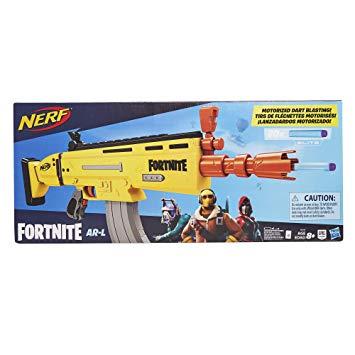 Nerf Fortnite AR-L Motorised Toy Blaster, 20 Official Fortnite Elite Darts - £28.50 @ Amazon