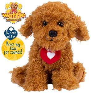 Waffle the Wonder Dog Soft Toy with Sounds £12.19 prime / £16.68 non prime @ Amazon
