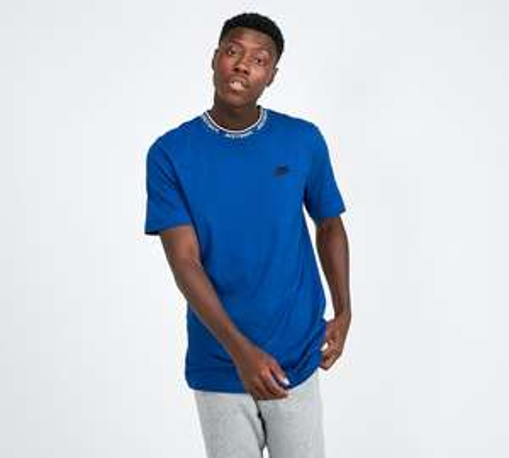 Nike JDI Logo Collar T-Shirt | Indigo - Now £14.99 with Free C+C @ Footasylum
