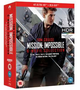 Mission: Impossible - The 6-movie Collection 4K UHD only £49.99 @ HMV