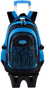 Rolling Backpack for Kids with 2 Wheels - £8.09 with code Sold by Coofit and Fulfilled by Amazon.