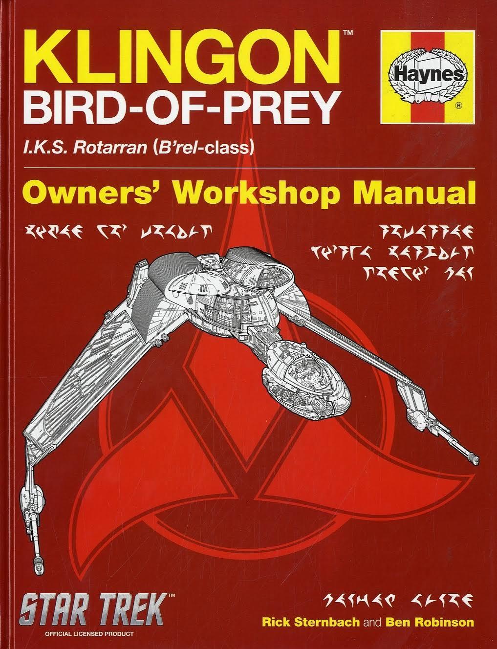 Klingon bird of prey star trek Haynes manual just £1 at poundland