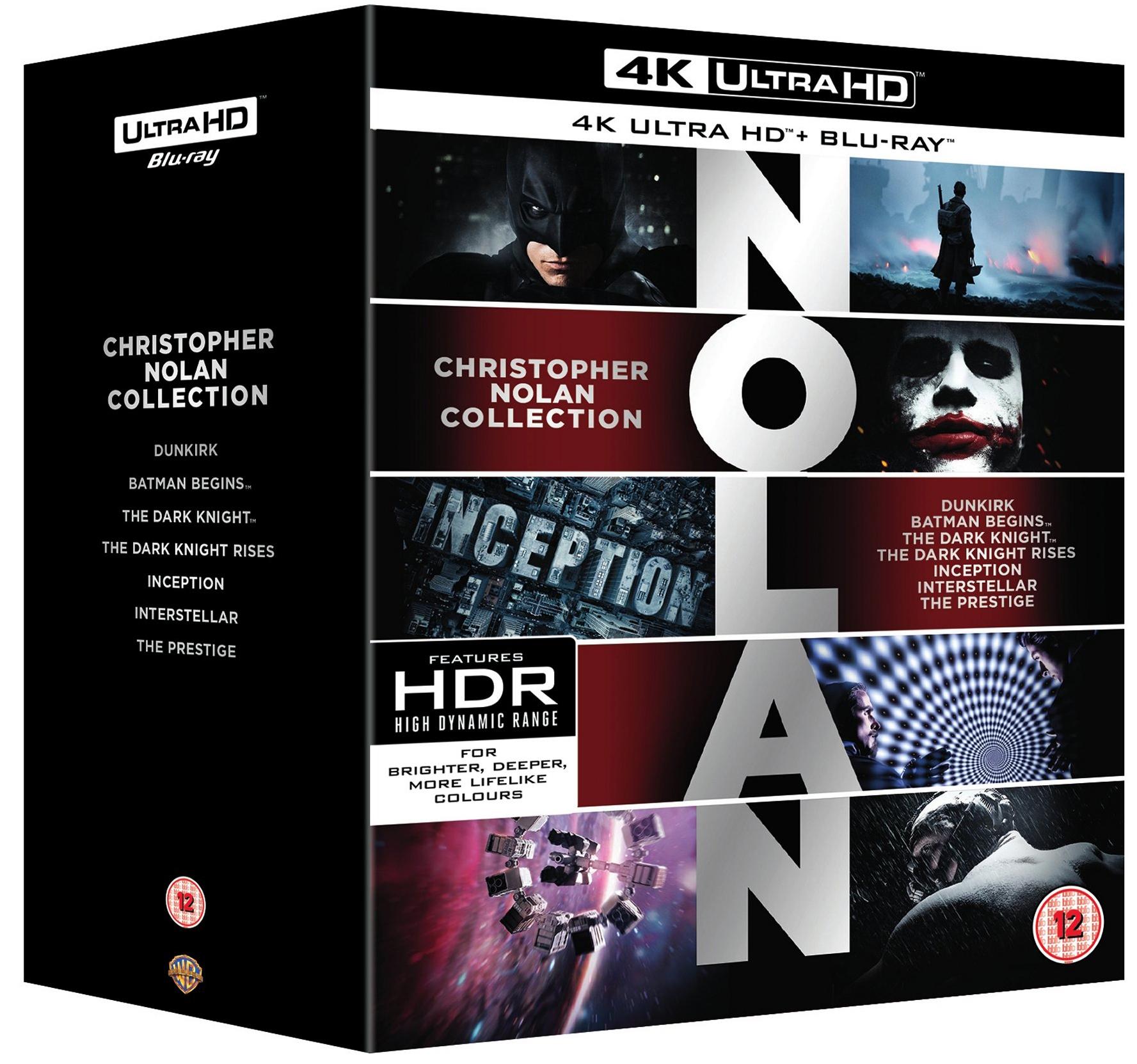 Christopher Nolan Collection 4K UHD (Dunkirk/Batman/Inception/Interstellar/etc) £59.99 @ HMV