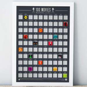100 movie scratch off bucket list poster just £2 at poundland Nuneaton