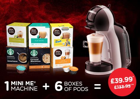 Dolce Gusto mini me plus 6 boxes of coffee £39.99 @ Nescafe