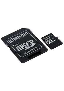 32 GB Kingston Canvas Select Micro SDHC Memory Card Class 10 UHS-1 U1 + SD Adapter £3.49. Free Delivery @ Base.com