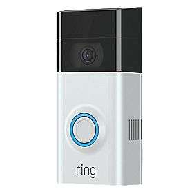 RING VIDEO DOORBELL V2 SILVER / BLACK (866GX) with Free Chime - £119 @ Screwfix
