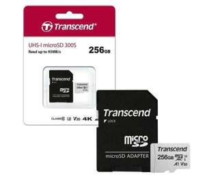 Transcend Micro SD Memory Card UHS-I U3 V30 A1 Class 10 for HD and 4K with SD Adapter - 256GB £22.99 at 7dayShop