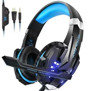 Over-Ear Gaming Headphones with Mic LED Light Noise Cancelling £15.98 (+£4.49 Non Prime) Sold by INSMART UK and Fulfilled by Amazon