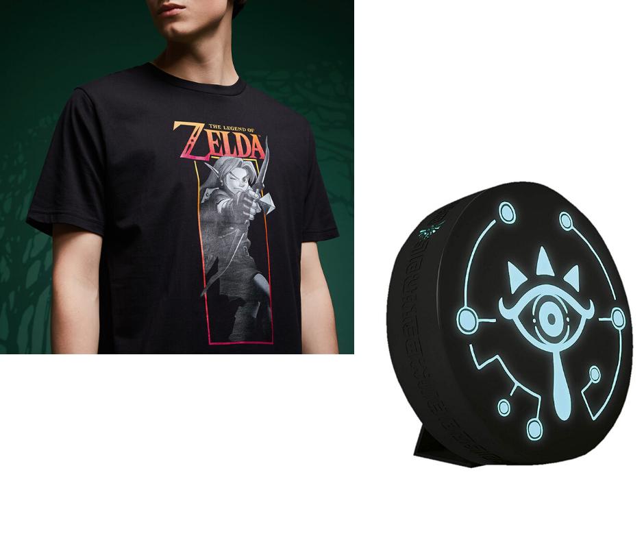 Legend Of Zelda Link Bow T-Shirt - Black + Zelda Sheikah Eye Projection Light £14.99 delivered using code + other offers @ Zavvi