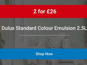 Dulux Standard Colour Emulsion 2 for £26 @ Wickes