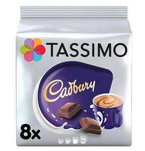 Tassimo Cadbury Hot Chocolate Pods 5x 8 pack (40 Pods) - Amazon £13.50 prime / £17.99 non prime (or £12.82 with Subscribe & Save)