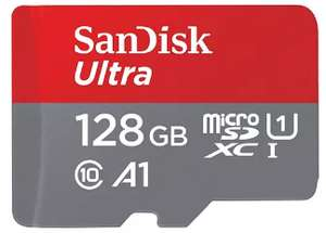 SanDisk 128 GB Ultra A1 Micro SD Card with Adapter Up to 100MB/s* R for £12.95 Delivered @ Base