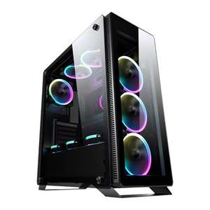 Sahara P35 RGB Tempered Glass Mid Tower PC Gaming Case £63.98 @ Scan