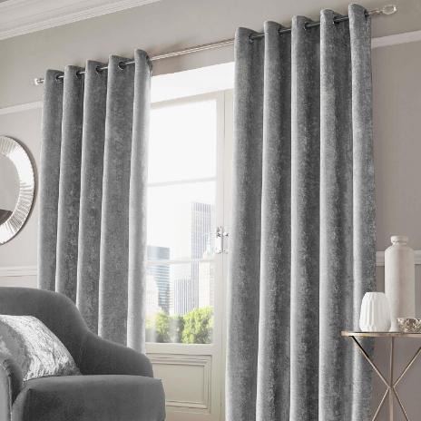 Sienna Home Crushed Velvet Eyelet Curtains From £12.98 Delivered @ Onlinehomeshop