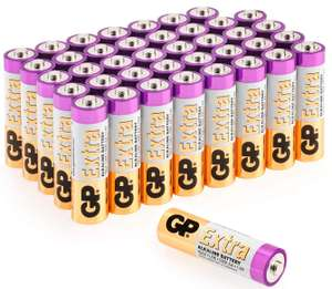 40 pack of AA Batteries £6.39 (+£4.49 Non Prime) Sold by GPBatteries Direct and Fulfilled by Amazon