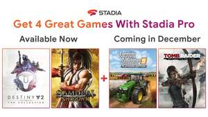 NOW LIVE: Stadia Pro free games for December 2019 - Farming Simulator 19 Platinum Edition & Tomb Raider Definitive Edition
