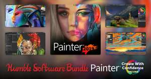 Humble Software Bundle - PhotoMirage/ Corel Painter 2019 /PaintShop Pro Ultimate / Gravit Designer Pro & more 80p Onwards @ HumbleBundle