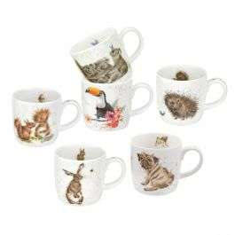 Royal Worcester Wrendale Designs Mixed Set of 6 Mugs (or £22.08 for 4) from Portmeirion.co.uk - £33.12 delivered