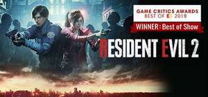 [Steam] Resident Evil 2 Remake / Devil May Cry 5 PC - £14.84 each @ Steam Store