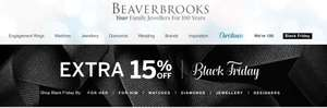 Beaverbrooks Extra 15% off all Sale Lines (including watches) @ Beaverbrooks