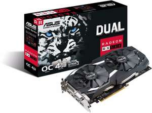 ASUS AMD Radeon RX 580 OC 4GB GDDR5 Graphics Card £124.98 at Amazon (Free Borderlands 3 and game pass)