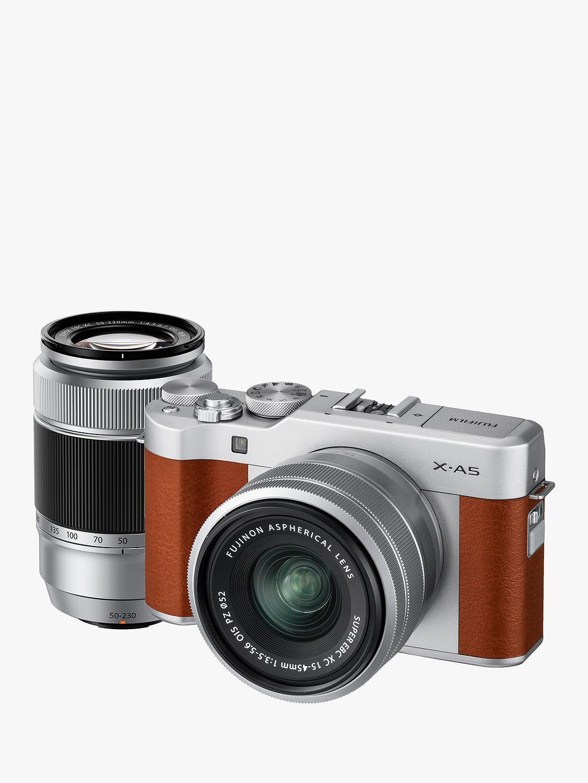 Fujifilm X-A5 brown mirrorless camera Twin kit - £399 @ John Lewis & Partners