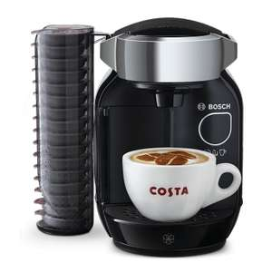 Tassimo caddy coffee machine and 8 packs of T DISCS and 2 latte glasses £74.99 @ Tassimo