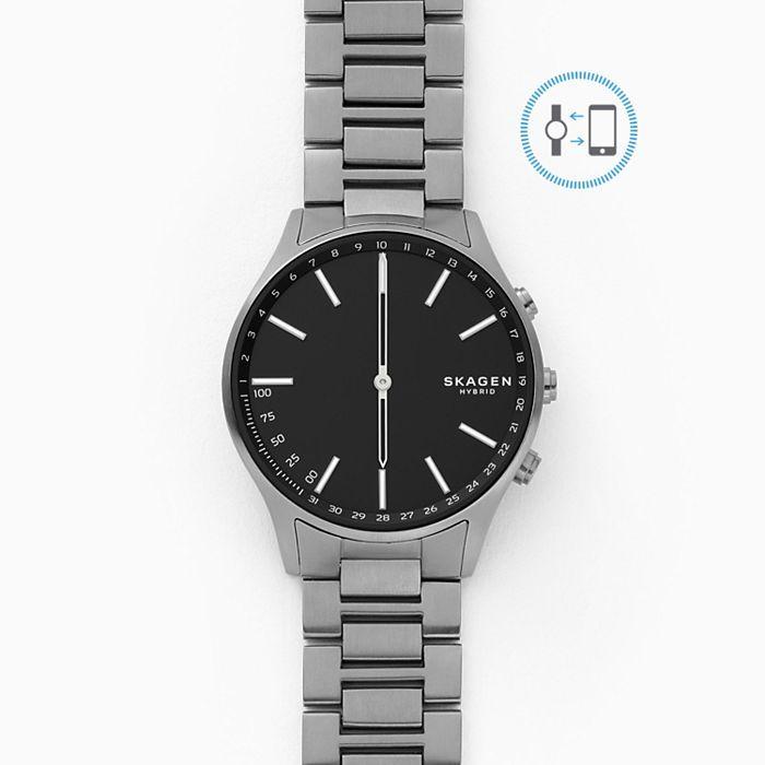 Skagen Hybrid Smartwatch £45 - Holst Titanium and Dark Grey Link Free postage Black friday deal