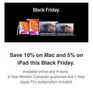 Save 10% off all Mac with 2 year guarantee with code @ Western Computer