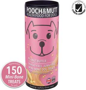 Pooch & Mutt - Mini-Bone Dog Treats, Peanut Butter, 6x125 g £3 + £2.99 delivery NP @ Amazon