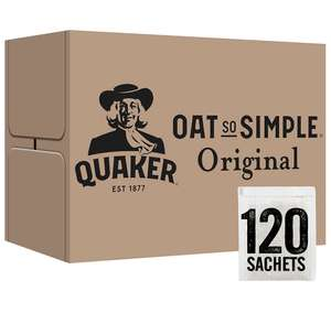 Quaker Oat So Simple Original Porridge Sachets, 27 g (Pack of 120) £12.99 + £4.49 NP @ Amazon