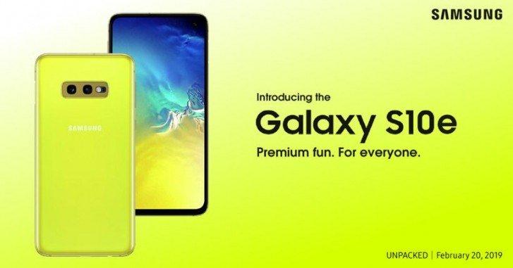 "Samsung Galaxy S10e 5.8"" 6GB/128GB canary yellow sim free at Argos for £334.50"