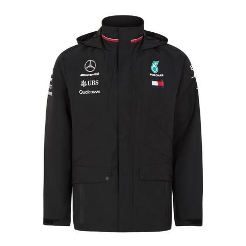 Men's Black Mercedes AMG-Petronas Motorsport Rain Jacket £54 + £5.95 postage at BrandAlley