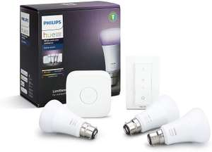 Philips Hue White and Colour Ambiance Starter Kit with Dimmer Switch & Bridge £89.99 @ Amazon